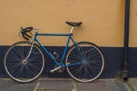Reynolds 531 steel frame and forks single speed/fixie road racing bike