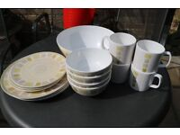 Melamine plates and bowls in good condition