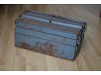 Industrial Chic Vintage Metal Toolbox