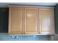 Good quality wooden kitchen cupboards and units