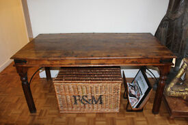 Original Sheesham Wood Antique Dining Table 80cm High x 169 L x 90 W