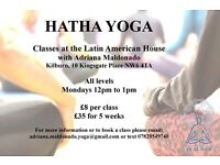 Hatha Yoga classes Mondays at 12pm. 10 Kingsgate Place NW6 4TA Kilburn