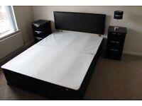 2 Drawer Double Divan Bed