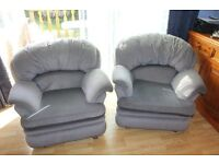 A PAIR OF BARGAIN ARMCHAIRS
