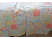 "Bright, colourful, lightweight curtains - 1 set, 52"" drop, 65"" width"