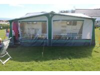 We need to sell reduced by £125 PULLMAN - Full Awning (Little Use with Poles)