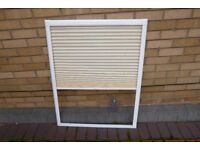 Double Glazing window blind for internal fixing. Measures exactly 75 x 97 cm.