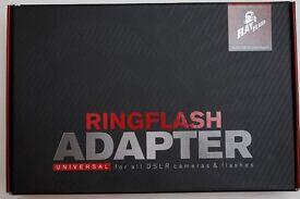 Ray Flash ring flash adapter. Universal for Canon Nikon Sony Pentax Panasonic Olympus Fuji cameras