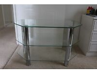 TV STAND / CLEAR GLASS