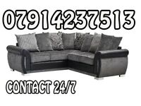 Brand New Black & Grey Or Brown/Beige Helix Sofa Available 485