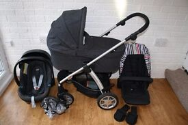 Mamas and Papas Sola pram travel system 3 in 1 - Denim *can post*