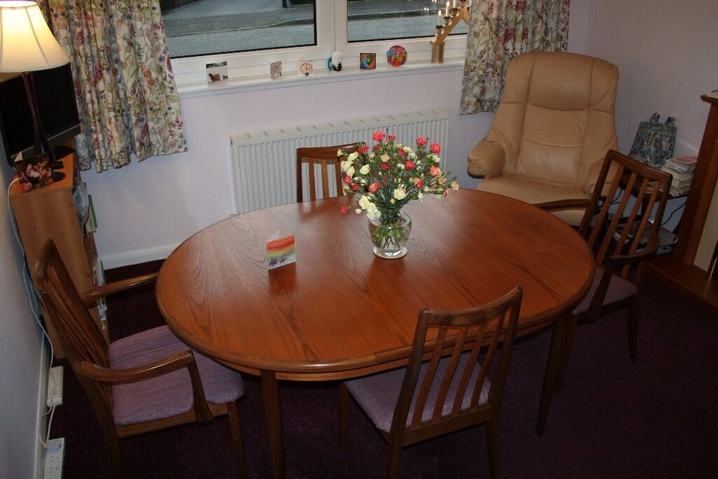 Outstanding G Plan 1970S Style Dining Table And 4 Chairs In Download Free Architecture Designs Rallybritishbridgeorg