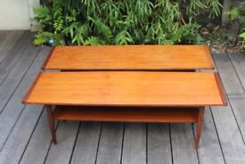 Pair of mid century teak coffe tables (can be sold separately)