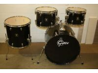 Gretsch Blackhawk Black ~ 4 Piece Drum Kit Shell Pack ( 22in Bass ) Drums Only