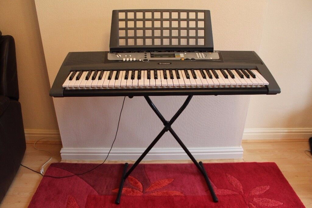 Yamaha EZ-200 Portable Keyboard with Stand - includes Song Book & Manual