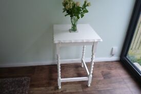 Versatile Vintage Hand Painted, Upcycled, Cream Barley Twist Table