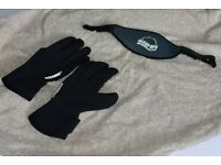 Oceanic dive gloves size small and Ocean Pro diving mask strap