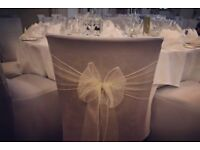 Chair covers and sashes for special ocassions £2.25 per chair cover and sash