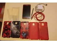 Samsung Galaxy Note 3, Red