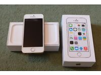 SOLD - iPhone 5s 16GB, Gold, Unlocked, in good condition with box