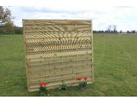 Quality Heavy Duty Wooden Fence Panels H180cm W180cm/183cm-6ft optional £30+vat Horizontal Fencing