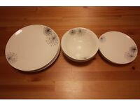 Dish set with cups ASAP