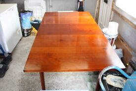 """Laura Ashley Dining Table Cherry Wood with 4 Chairs. Table Size 53""""X 35, ext 69""""X35""""."""