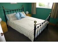 double bed with mattress and mattress protector for sale ..buyer collects or can deliver locally..