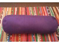 Purple buckwheat yoga bolster