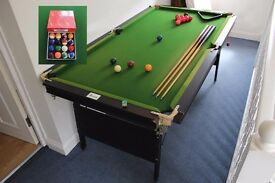 Harrods 6ft Foldable Pool & Snooker Table