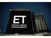 WE CAN MANAGE YOUR SOCIAL MEDIA PROFILES   ET SOCIAL MEDIA MANAGEMENT 07514925257