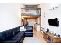 Great 1 bed split level warehouse conversion in Bow, E3, East London, Residents gym and pool.