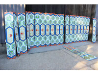 22x Vintage Chinese Restaurant Wood Wall Panels hand painted