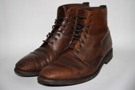 Loake 1880 Capital Designer Men's Shoes Chukka Boots Leather Dark Tan Brown 7.5