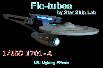 """Star Trek Model Lighting """"Flo-tubes"""" Enterprise 1701-A 1/350 scale starshiplab"""