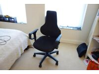 Topstar Ergo Point SY Swivel Chair With Free Moveable Backrest - Black