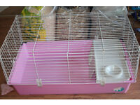 used guinie pig cage/pink for sale . as seen .