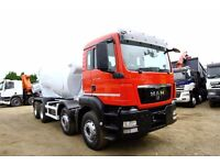 2011 MAN TGS 32.400 8X4 CONCRETE MIXER TRUCK CEMENT MIXER TRUCK FOR SALE VOLVO MIXER DAF MIXER SCANI