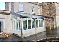 Victorian Style Hardwood Lean To Conservatory 2.82m x 4.28m COMPLETE INC BLINDS