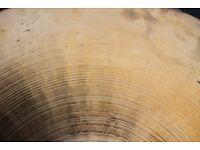 "Paiste 2002 20"" ride cymbal - 1977- Hollow logo"