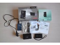 CANON IXUS 130 Black 14.1 MP DIGITAL CAMERA - BOXED WITH ACCESSORIES INCLUDING SOFT CASE