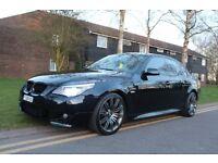 "BMW 525d 3.0 diesel Msport LCI Auto I-drive xenon 535d 530d e60 facelift sat nav 19"" spider alloys"