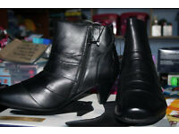 LADIES NEW AND BOXED LEATHER BOOTS