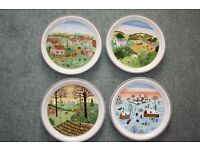 """Set of 4 Villeroy and Boch """"The Four Seasons"""""""