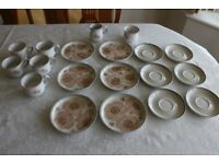 Denby Dinner Plates, Cups and Saucers