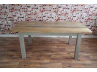 Chunky Hardwood Rustic Dining Table Six-Seater Oak Farmhouse Table