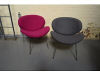 Low & Wide Retro Mid-Century Inspired Lounge/Reception Chairs - NEW EX-DISPLAY