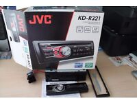 Radio JVC KD-R321 Cd / MP3 with front/rear AUX in- RED illuminated detachable front