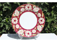 Stunning Antique Ironstone Plate 1880's Handpainted Flowers Victorian Vintage Ashworth Bros 19thC
