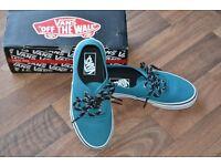 Ladies Vans - teal blue size 3 brand new in box never worn